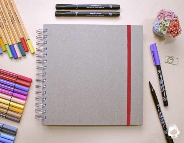caderno quadrado