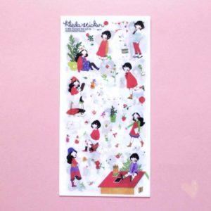 cartelas de adesivos com menininhas fofas