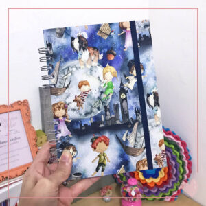 Caderno Pontilhado Peter Pan