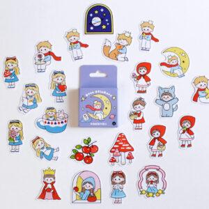 adesivos de personagens dos contos de fada