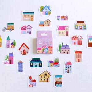 adesivos de casinha e prédios