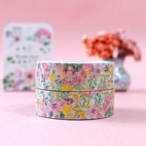 washi tape floral com foil dourado