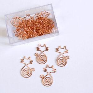 clips de metal dourado rosê