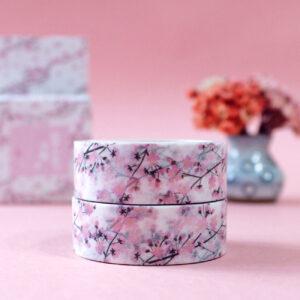 washi tape de flores de cerejeira rosa